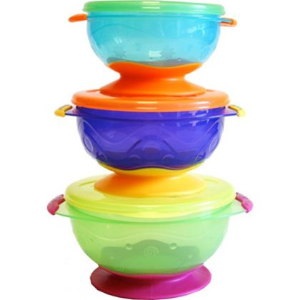 Nuby Stackable Suction Bowl Set of 3 (for 6 Months+) – NB