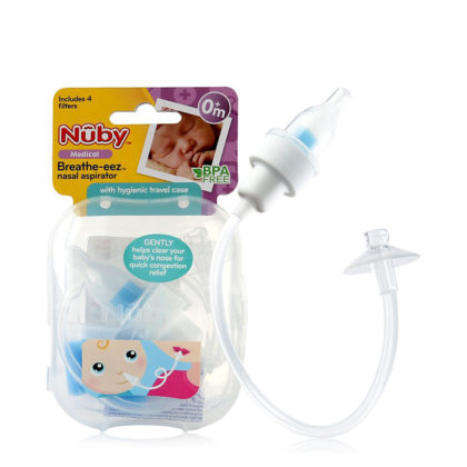 Nuby Breath-eez Nasal Aspirator PP Cover & Hygienic Travel